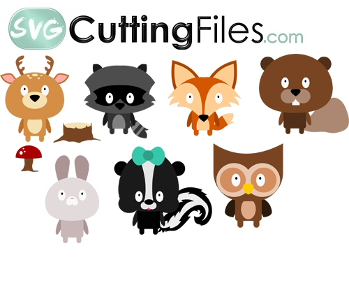 Chibi Forest Animals SET