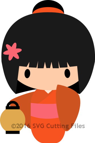 Chibi Geisha Girl with lantern