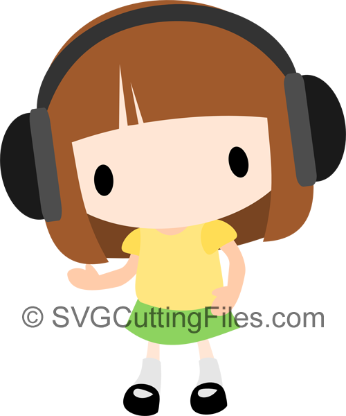 Chibi with headphones