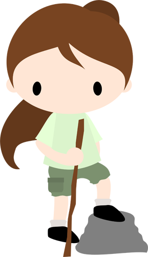 Chibi Hiker Girl