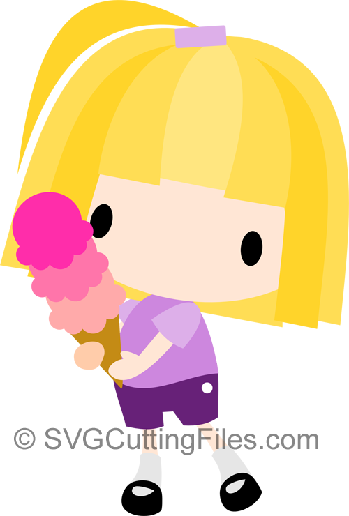 Chibi Ice Cream Girl
