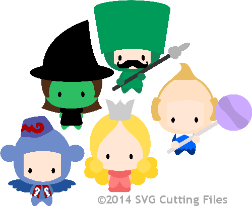 Chibi Kids Dressed as Oz - Set B