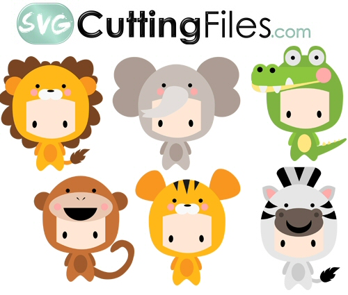 Chibi Kids as Jungle Animals