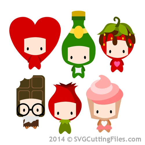 Chibi Kids as Valentine Icons