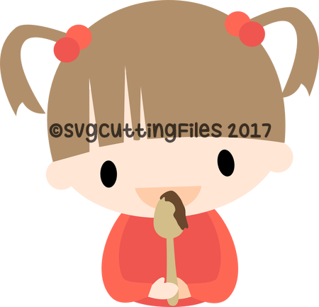 Chibi Girl with Spoon