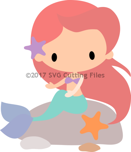 Chib Mermaid on Rocks