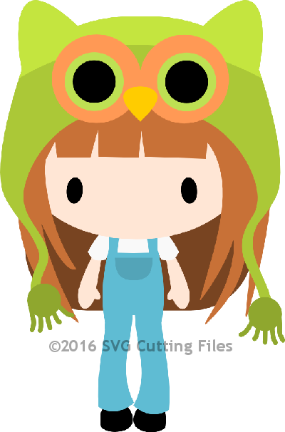 Chibi Girl in Owl Hat