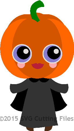 Chibi Pumpkin Girl with Cape