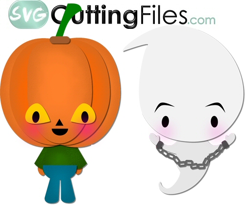 Chibi Pumpkin and Ghost