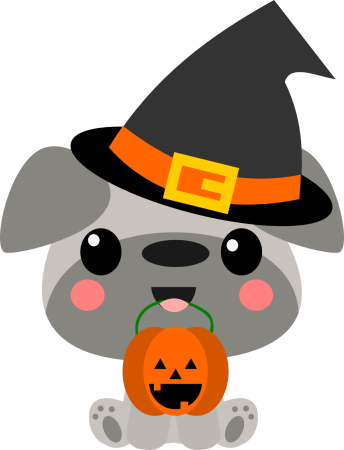 Chibi Puppy Witch Hat