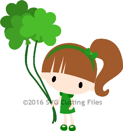 Chibi Shamrock Balloon Girl