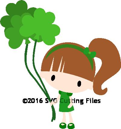 Chibi Shamrock Balloon Girl