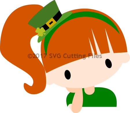 Chibi St Pat Thinker - Girl