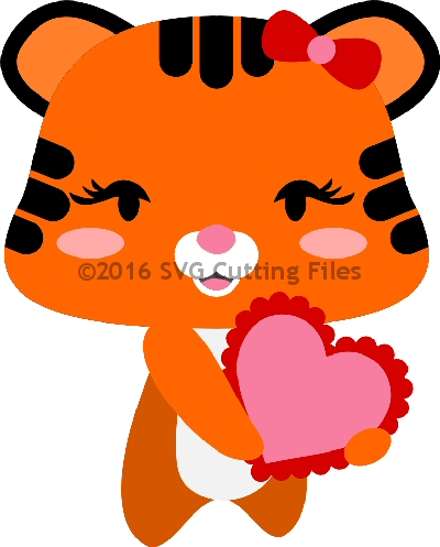 CHibi Tiger with Heart