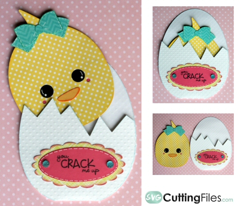 Chick in Egg Peek Out slider card