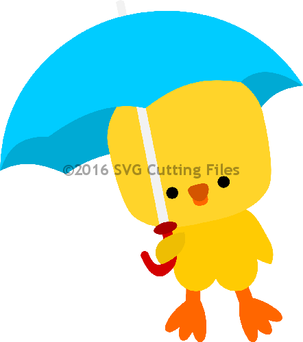 Chick holding Umbrella