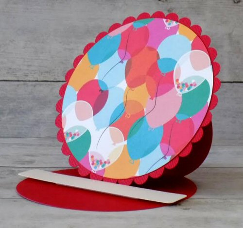 Circle Easel Card Base