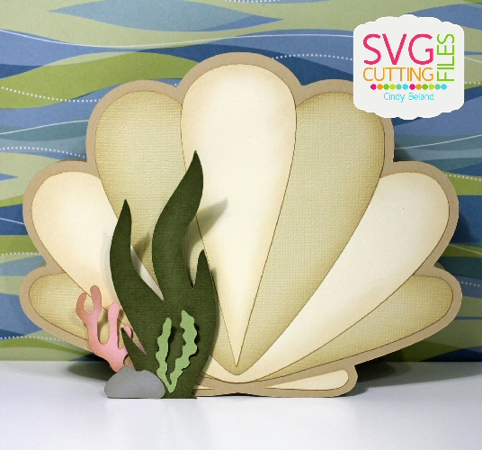 Clam Shell Shaped Card
