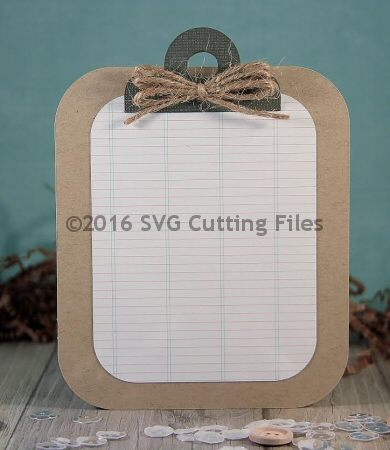 Clipboard Shaped Card
