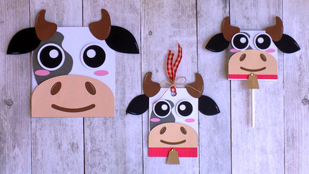 Cow Card - Hang Tag and Lollipop Set