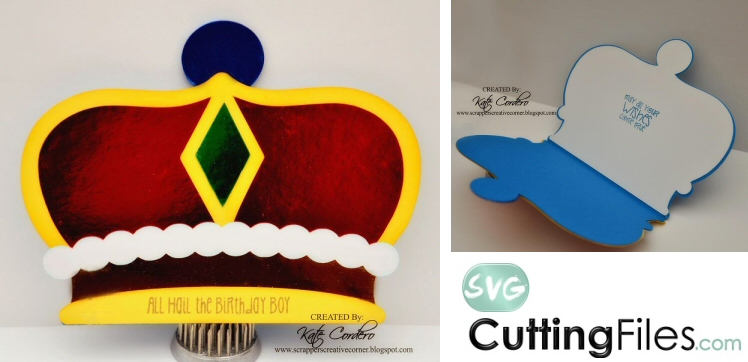 King Crown Shaped Card