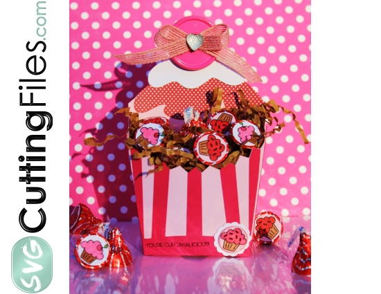 Cupcake Fry Box Container