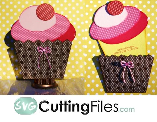 Cupcake Slide Card