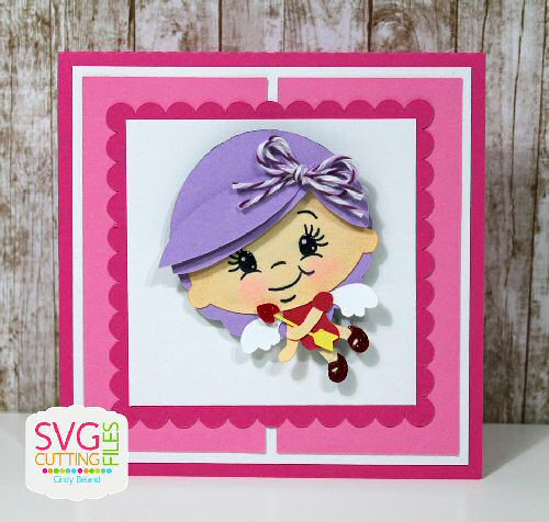 Cupid Girl Card Kit