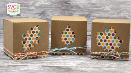 Cut Out Leaf Box Trio