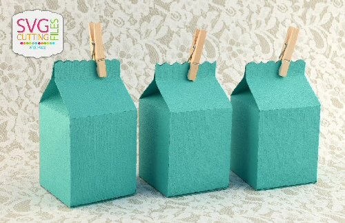 Decorative Edge Milk Carton TRIO