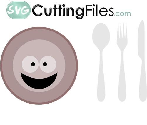 Dinner Plate and Utensils