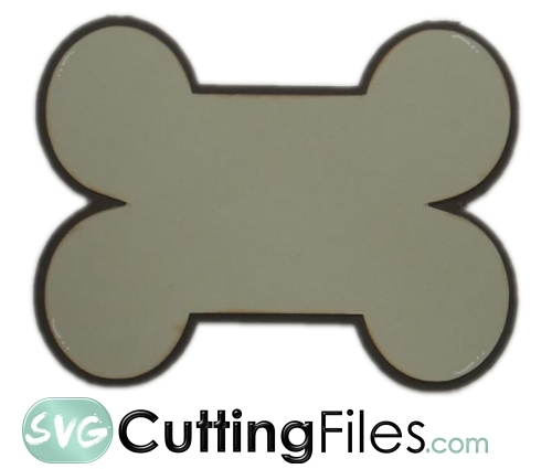 Dog Bone Shaped Card Svg Cutting File