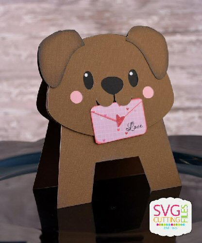 Dog Letter Standing Card Shape