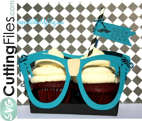Nerdy Double Cupcake Box Holder