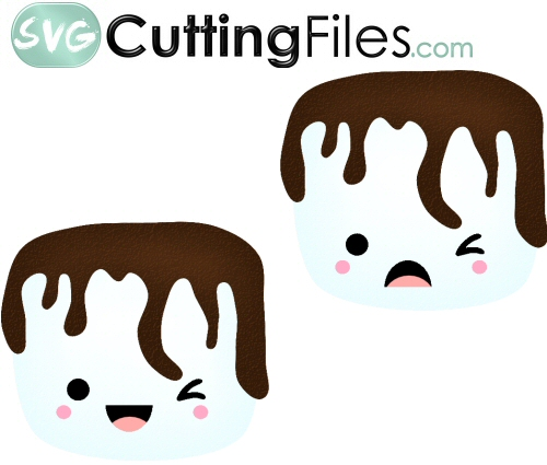 Dipped Smore kawaii face