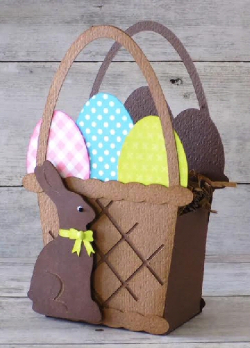 Easter Basket Box with Bunny