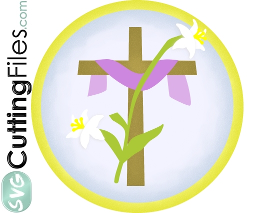 Easter Cross with Lily