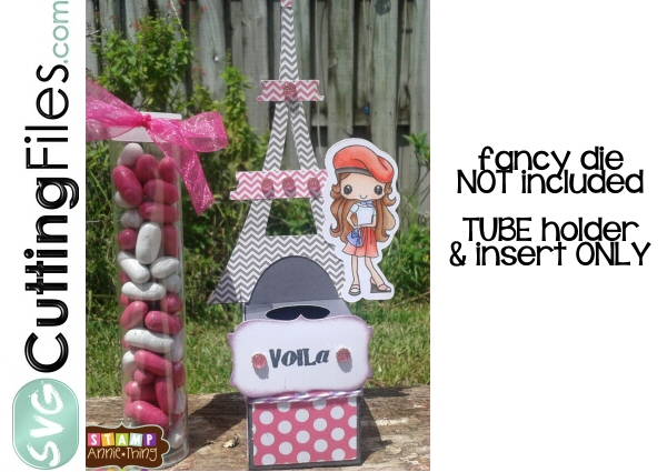Eiffel Tower Candy Tube Holder