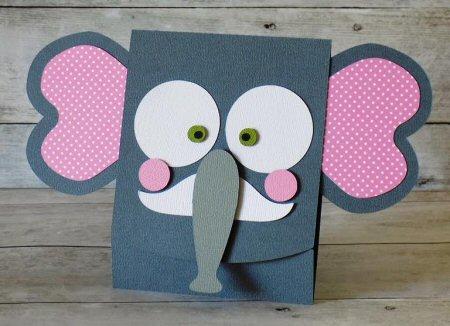Elephant Flip Card