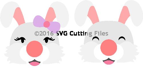 EOS Bunny Heads (boy and girl)