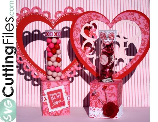 Heart Pack Candy Tube Holder