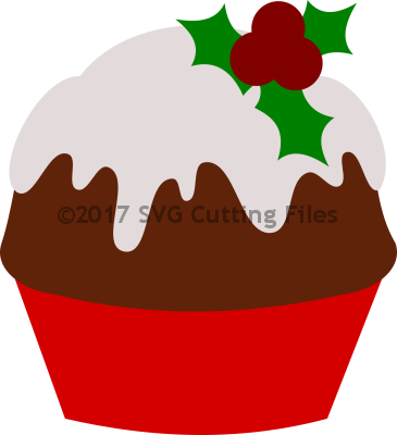 Christmas Figgy Pudding Cupcake
