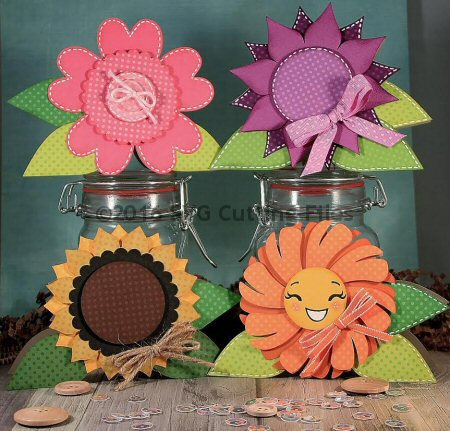 Flower Shaped Card Set