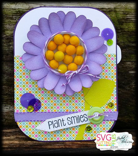 Daisy Flower Treat Cup Card