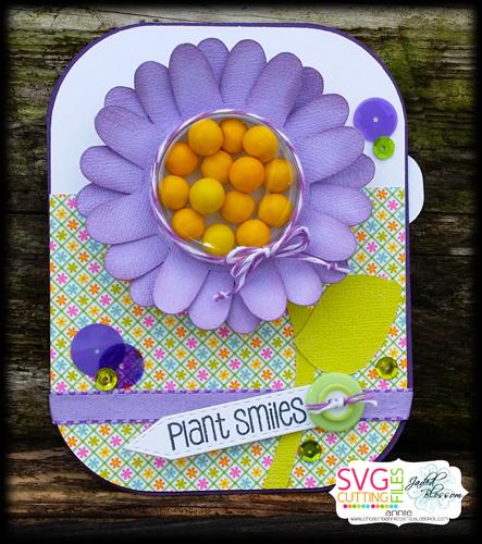 Daisy Flower Treat Cup Card
