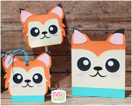 Fox Card - Hang Tag and Lollipop Set