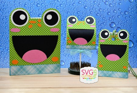 Froggie Card - Hang Tag and Lollipop Set