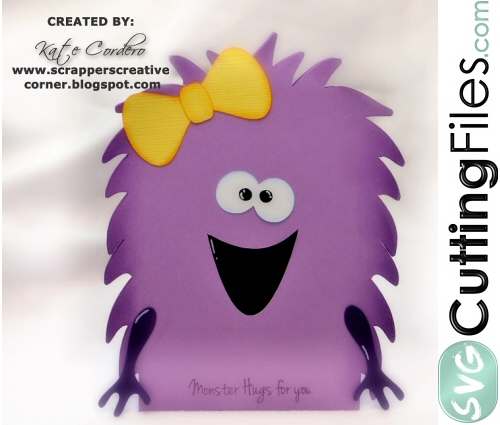Fuzzy Face Monster Card