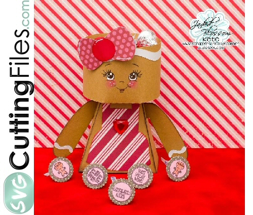 3d Gingerbread Girl Box