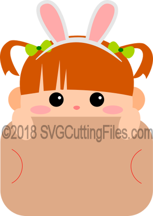 Girl Bunny Ears Gift Card Peeker